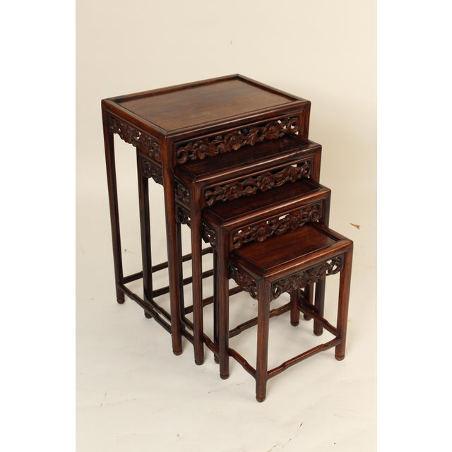 1930s Chinese Nesting Tables - Set of 3 For Sale - Image 13 of 13