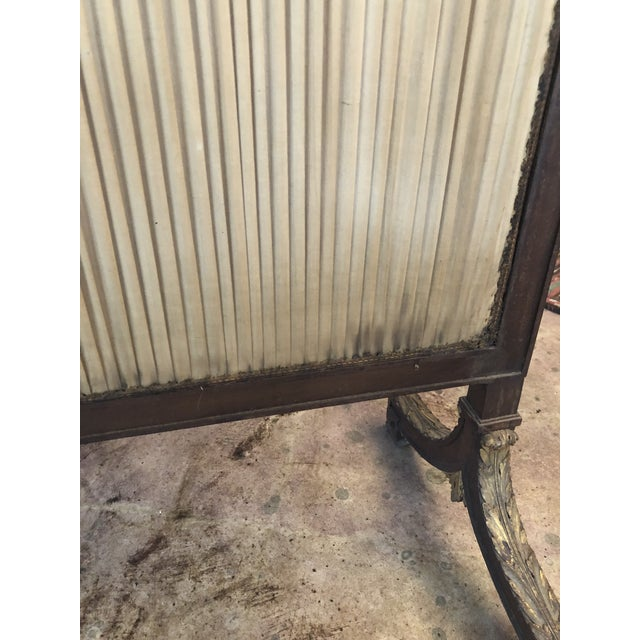 Early 19th Century French Empire Needlepoint Fireplace Screen For Sale - Image 9 of 12