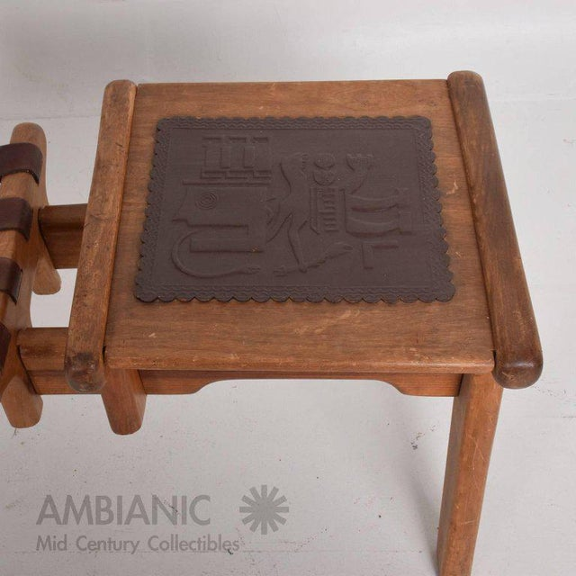Mid-Century Modern Angel Pazmino Telephone Table Stool For Sale In San Diego - Image 6 of 7