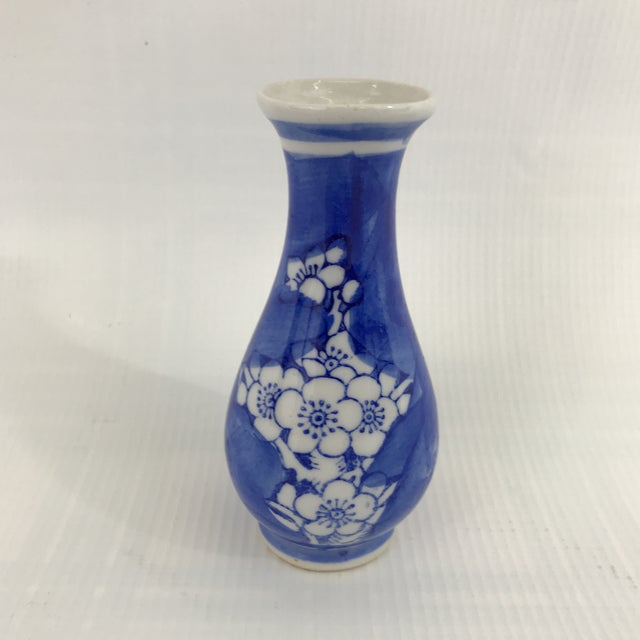 Ceramic Miniature Blue and White Chinese Porcelain Vase For Sale - Image 7 of 7