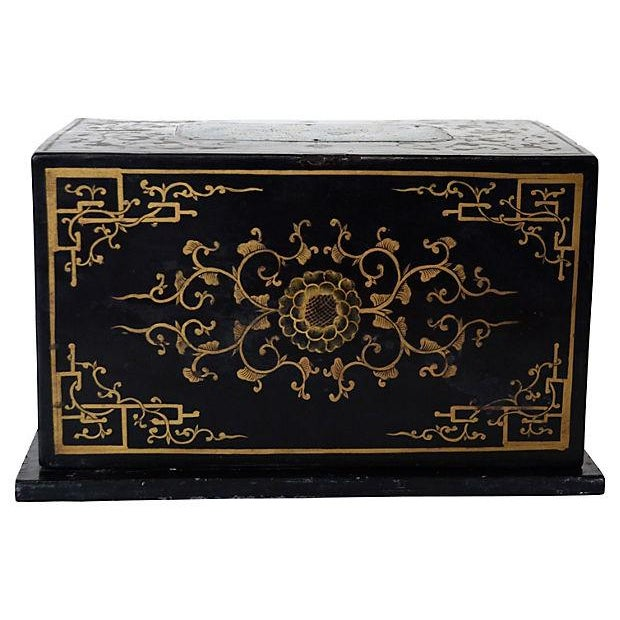 Antique Chinese Lacquer Box - Image 3 of 5
