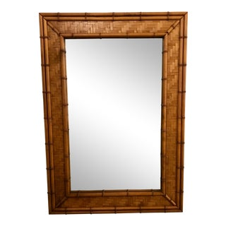 Woven Rattan Mirror For Sale