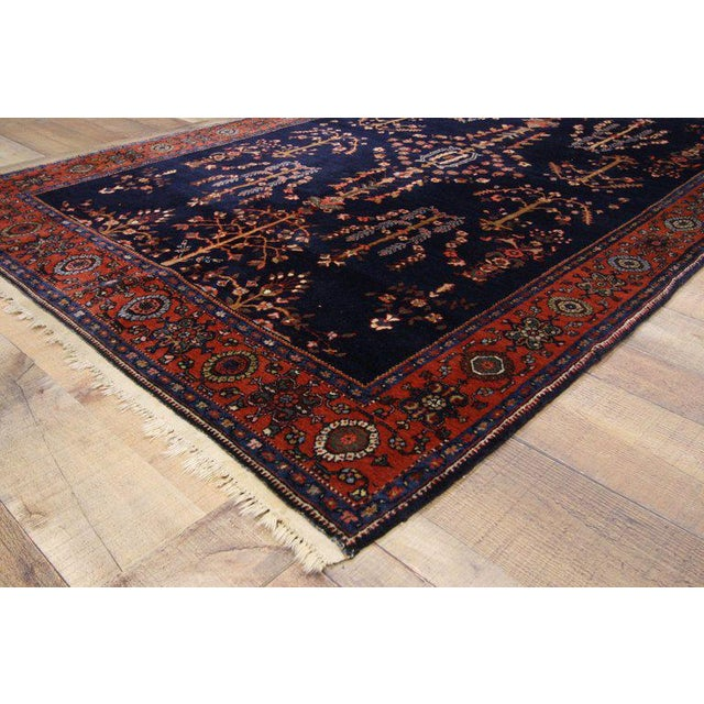 Islamic Early 20th Century Antique Persian Sarouk Rug - 4′3″ × 6′5″ For Sale - Image 3 of 8