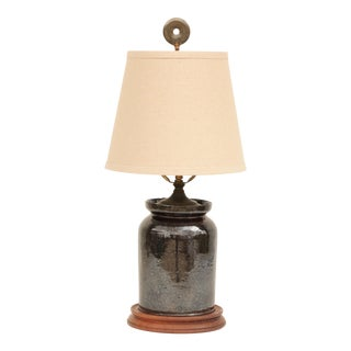 Pennsylvania Redware Table Lamp For Sale