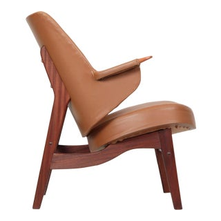 Circa 1960s Danish Mid Century Modern Sculpted Teak Arm Chair by Poul Jessen