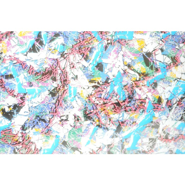 Abstract Mixed Media Multi-Layered Masterpiece by Paul Slapion C.1985 For Sale - Image 3 of 7