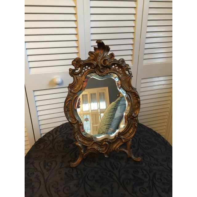 Beautiful Vanity Mirror was purchased in Paris at an antique store on the Left Bank. Love at first site! Beveled mercury...