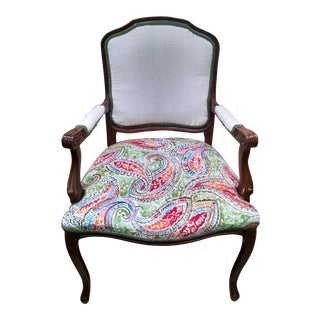 Vintage Louis XV Style Arm Chair For Sale