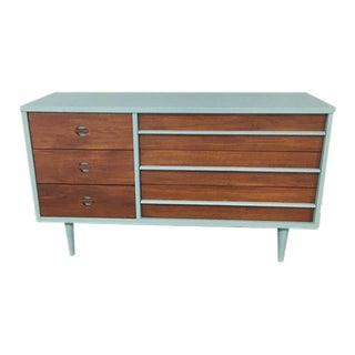 1960s Mid Century Modern Danish Style Bassett Dresser For Sale