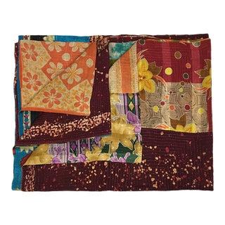 Rug & Relic Unique Batik Vintage Kantha Quilt For Sale