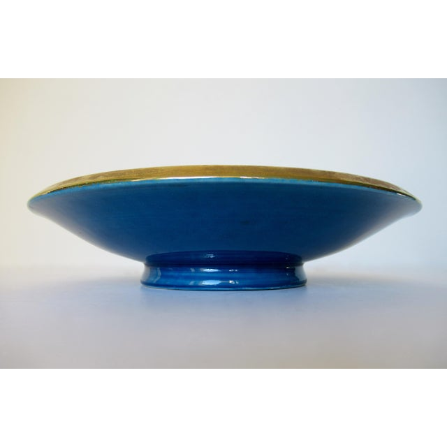 Blue Vintage Mid-Century Aldo Londi for Bitossi Blue Ashtray, or Catchall Dish For Sale - Image 8 of 13