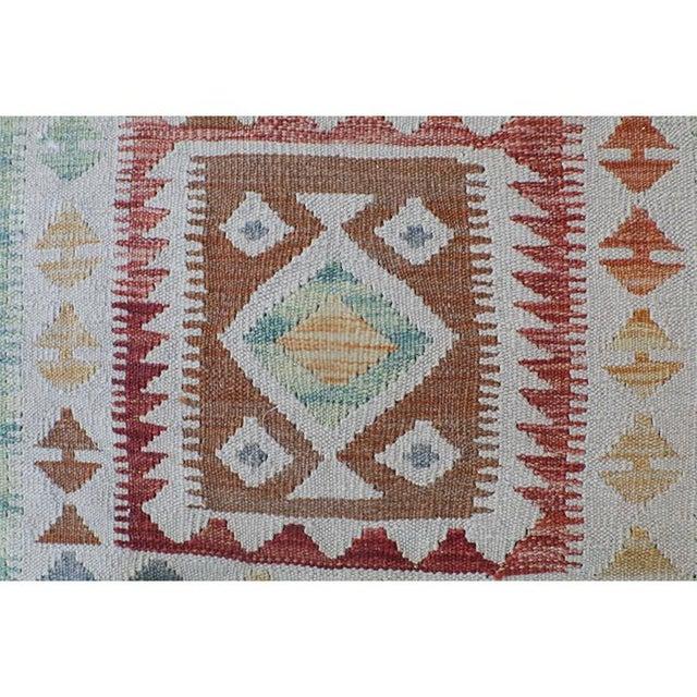 Vintage Afghani Vegetable Dye Handmade Kilim Runner- 2′8″ × 9′4″ - Image 4 of 4