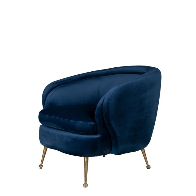Palermo Accent Chair in Blue For Sale - Image 4 of 4