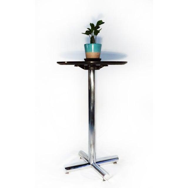 Chrome & Black Side Table - Image 5 of 5