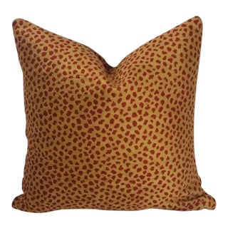 Manuel Canovas Safari Gold and Red Pillow Cover For Sale