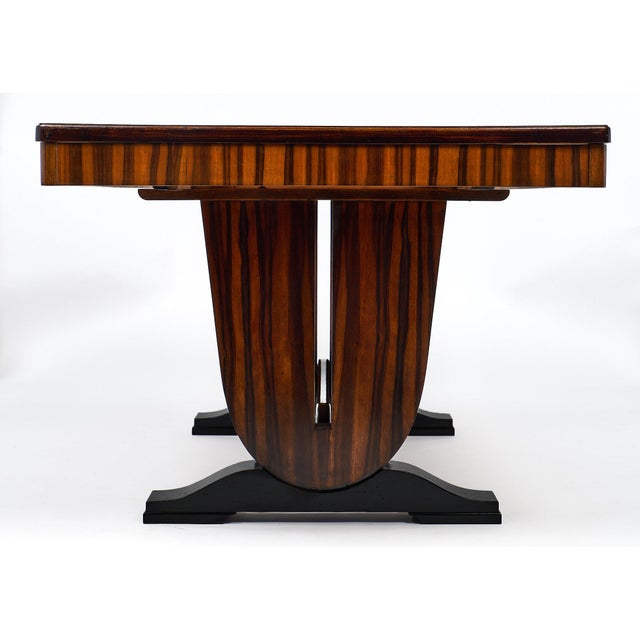 French Art Deco Period Macassar Dining Table For Sale In Austin - Image 6 of 10