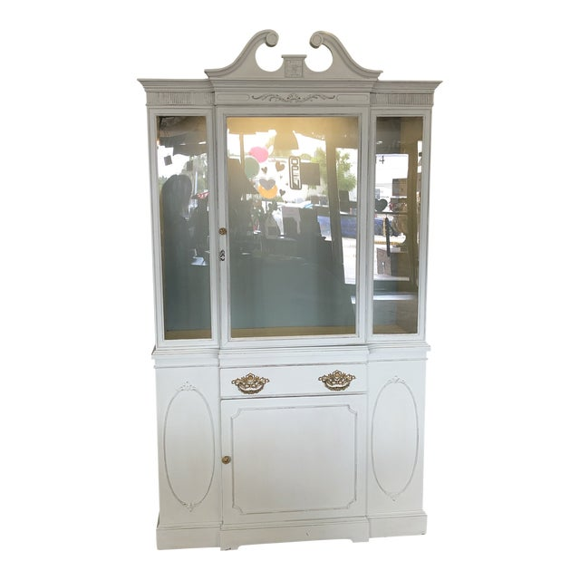 Vintage Federal Style China Cabinet For Sale