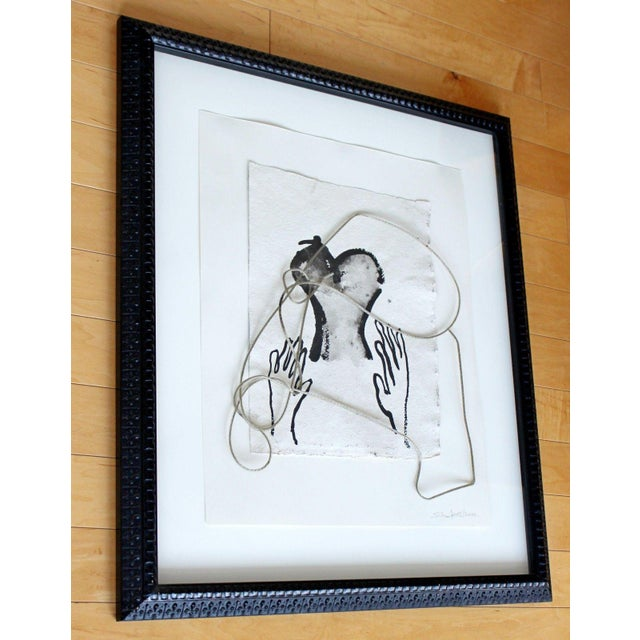 2002 Contemporary Framed Mixed Media Painting For Sale - Image 4 of 8