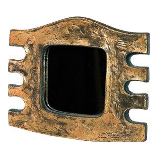 """Eugene Fidler """"Miroir Azteque"""" - Glazed Ceramic Mirror For Sale"""