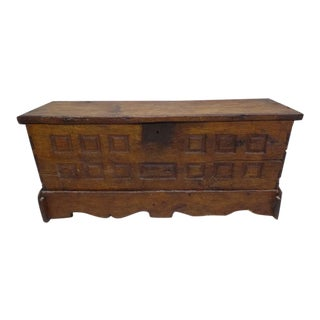 Rustic French Late 18th Century Chest / Coffer / Armoire / Bench, circa 1795