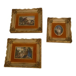 Romantic Paintings -Set of 3 For Sale