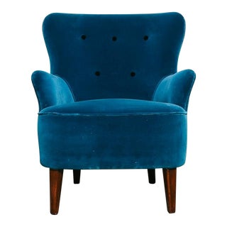 Velvet Theo Ruth Lounge Chair for Artifort For Sale