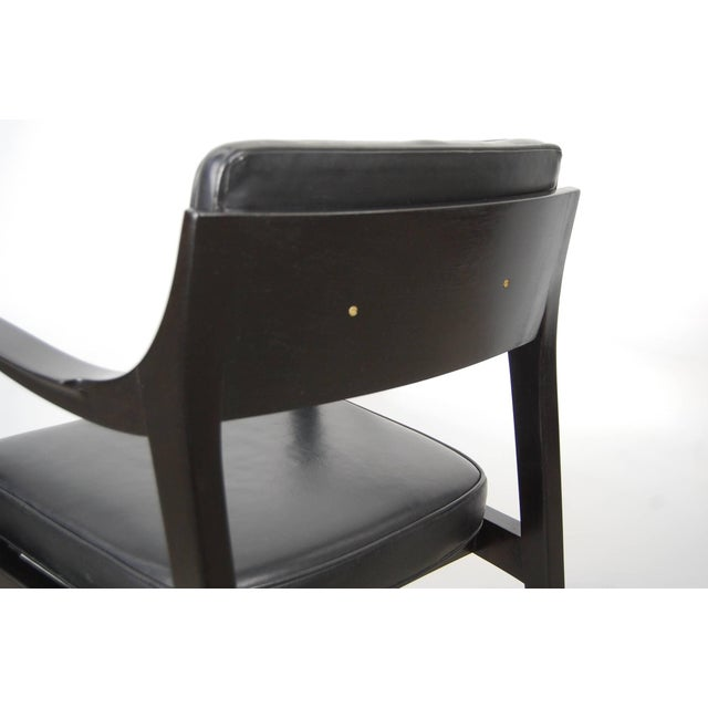 Pair of Dunbar Chairs in Black Leather For Sale In Providence - Image 6 of 10