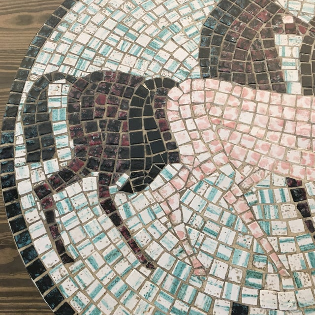 Mid Century Modern Mosaic Tiled Coffee Table For Sale In New York - Image 6 of 8