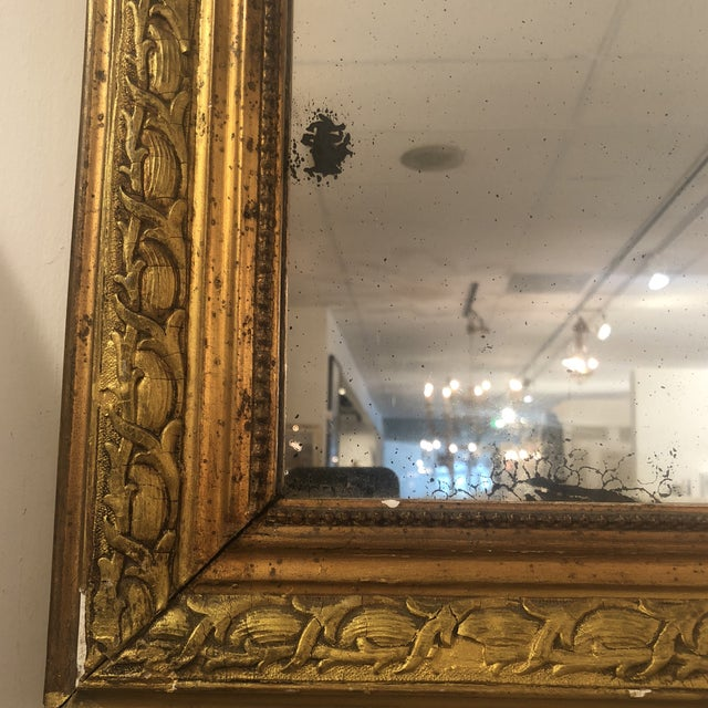 1950s Louis Phillipe Gold Mirror For Sale - Image 5 of 11