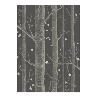 Cole & Son Woods & Stars Wallpaper Roll - Charcoal For Sale