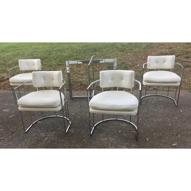 Thayer Coggin Chrome Chairs and Base - Image 11 of 11