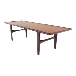 Rare Danish Modern Teak Coffee Table Designed by Illum Wikkelso For Sale