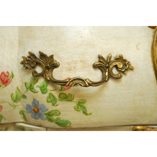 Monumental Venetian Painted and Parcel Gilt Bombe Chest - Image 5 of 10