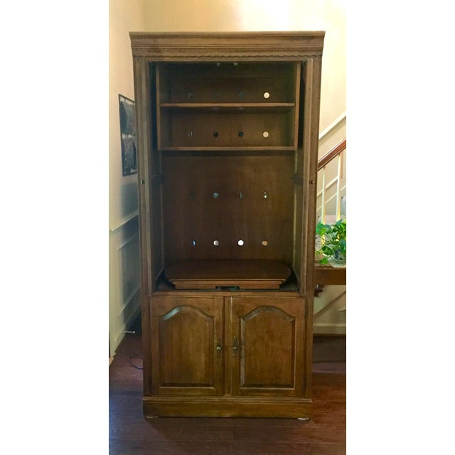 Country Vintage Ethan Allen Entertainment Cabinet For Sale - Image 3 of 9