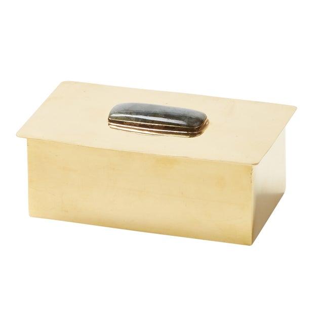 Rectangular Labradorite Gemstone Box - Image 1 of 2