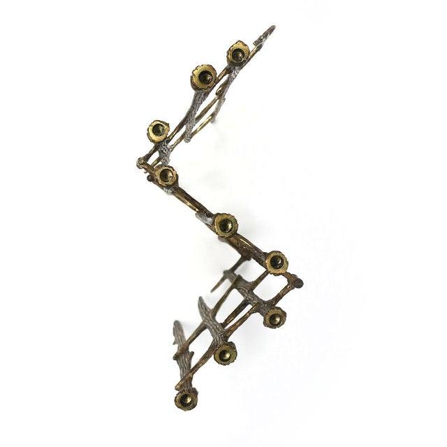 Brutalist Brass Candleholder For Sale - Image 4 of 9