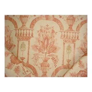 Lee Jofa Rye Damask Fox Italian Villa Print Upholstery Fabric - 7 Yards For Sale
