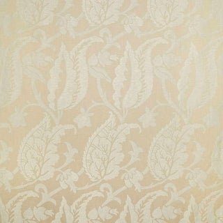 Suzanne Tucker Home Jacqueline Linen Blend Jacquard in Sand For Sale