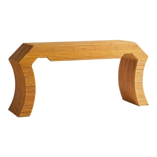 Sculptural Split Reed Console For Sale