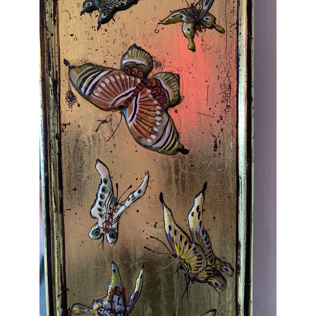 1970s Bohemian Butterfly Wall Mirror For Sale - Image 5 of 13