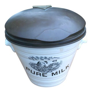 Container with Pure Milk English Motif For Sale