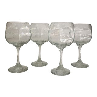 Vintage Wine Goblets - Set of 4