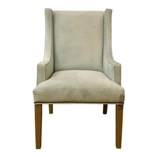 Bsc Modern Sea Foam Jessica Wingback Chair For Sale