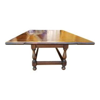 1970s Traditional Ethan Allen Drop Leaf Coffee Table For Sale