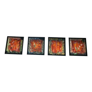 Original Chinese Oil Paintings - Set of 4 For Sale