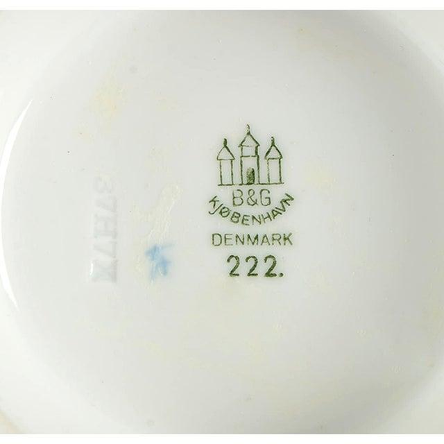 1960s Bing & Grondahl Empire Blue and White Pedestal Bon Bon For Sale - Image 5 of 6