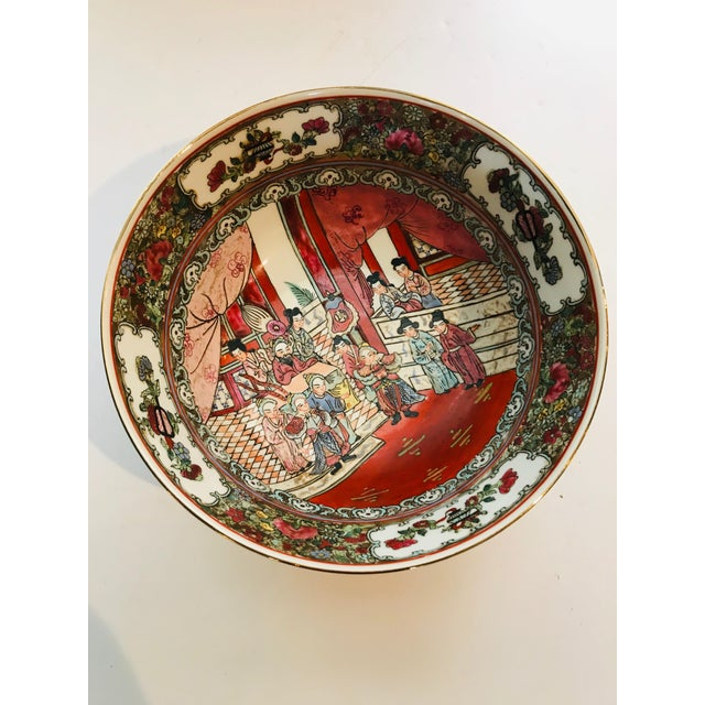1950s Vintage Rose Medallion Bowl For Sale - Image 6 of 6