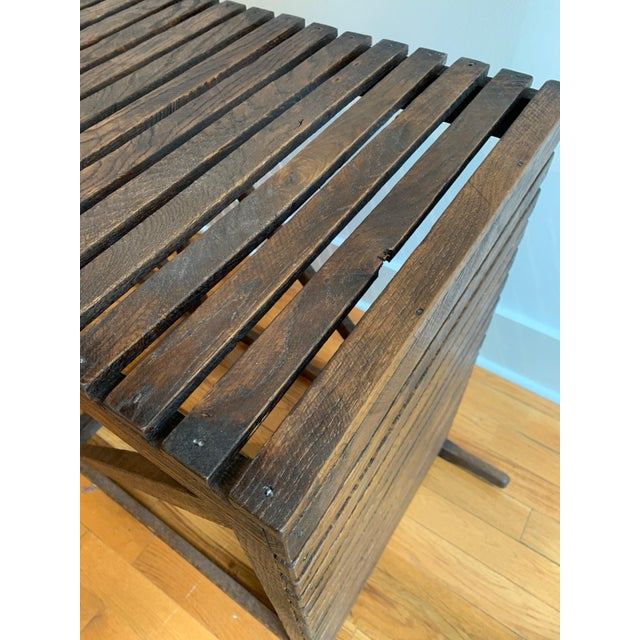 "Rustic ""Museum Crate"" Console Table For Sale - Image 9 of 12"