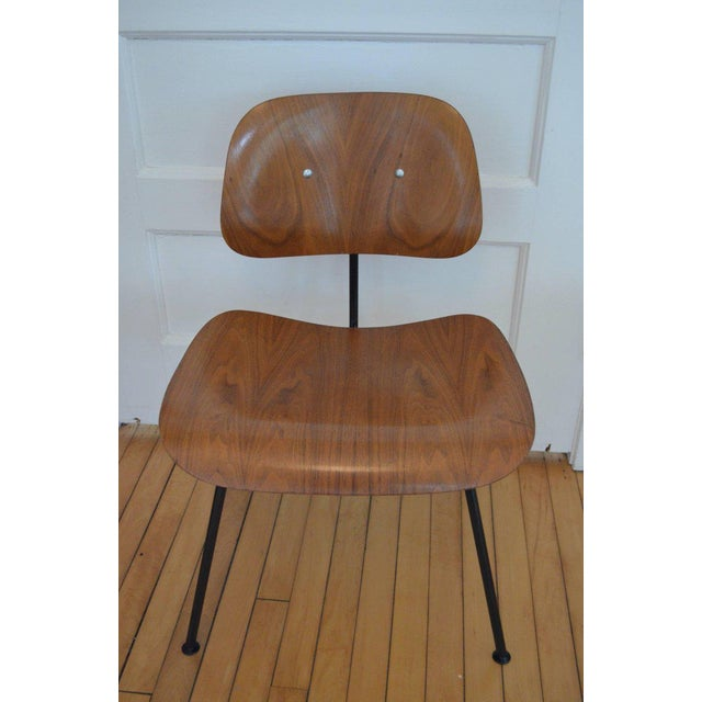 Dozens of Herman Miller Eames 1950s Walnut Dining Room Chair With New Hm Frames For Sale - Image 11 of 11