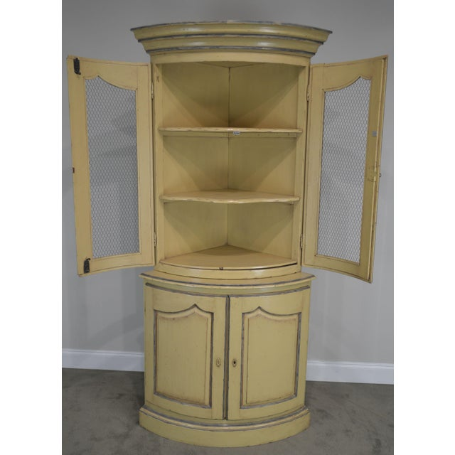 French Country Style Corner Cabinet For Sale - Image 11 of 13